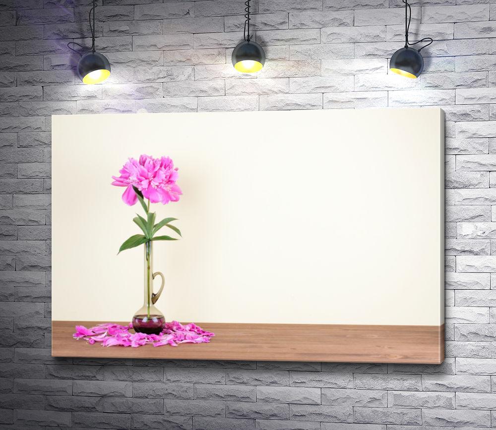 """Картина """"Изысканный цветок в прозрачной вазе """""""