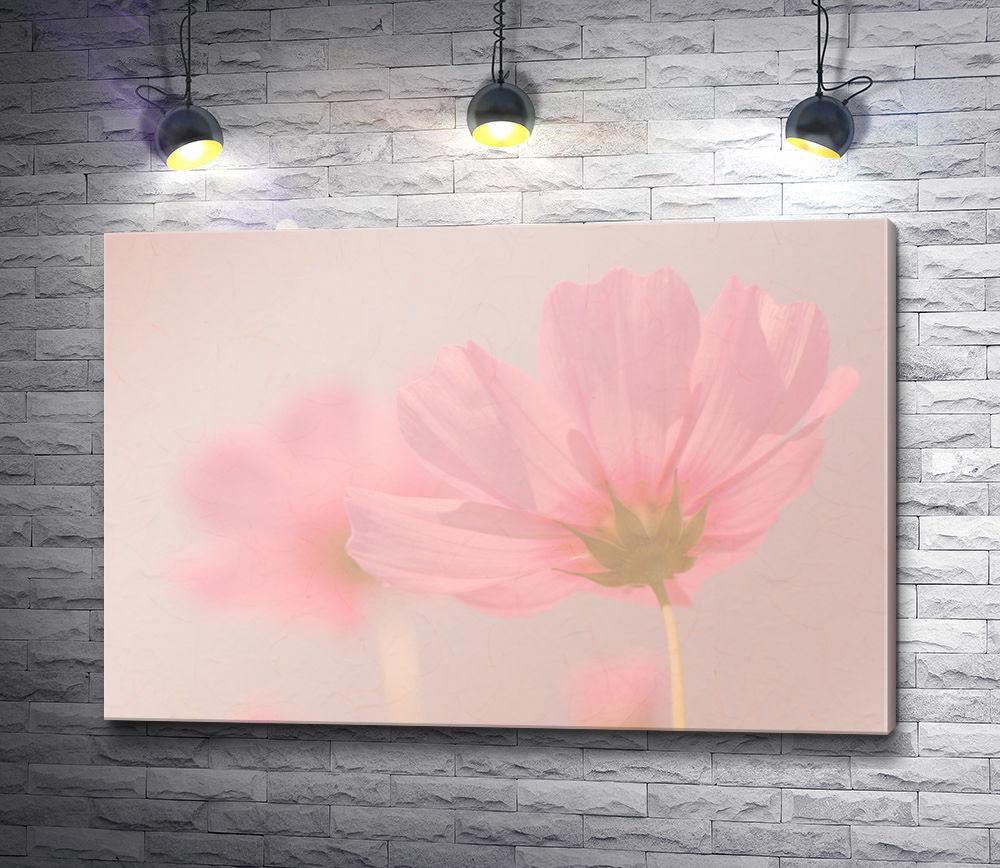 "Картина ""Бледно-лиловый цветок на тонком стебельке """