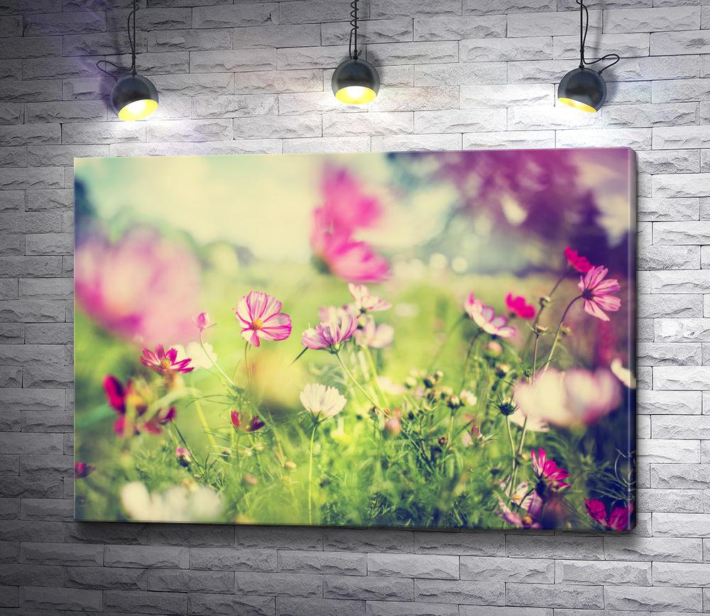 "Картина ""Весенние цветы в лучах солнца"""