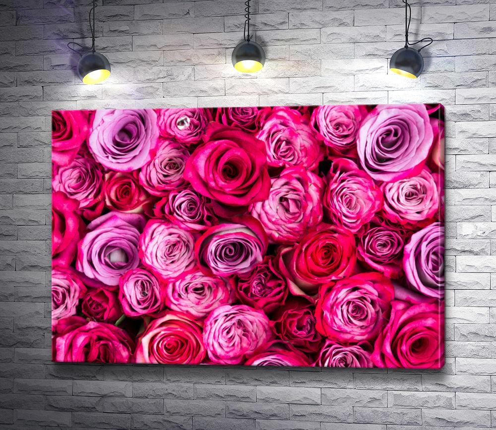 """Картина """"Розово-сиреневые розы"""""""
