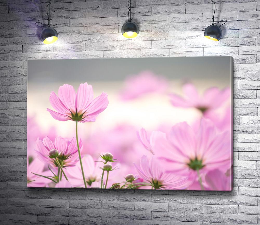 """Картина """"Весенние цветы розового цвета """""""