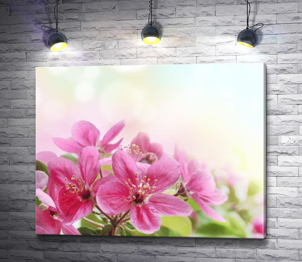 """Картина """"Веточка розовых цветов"""""""
