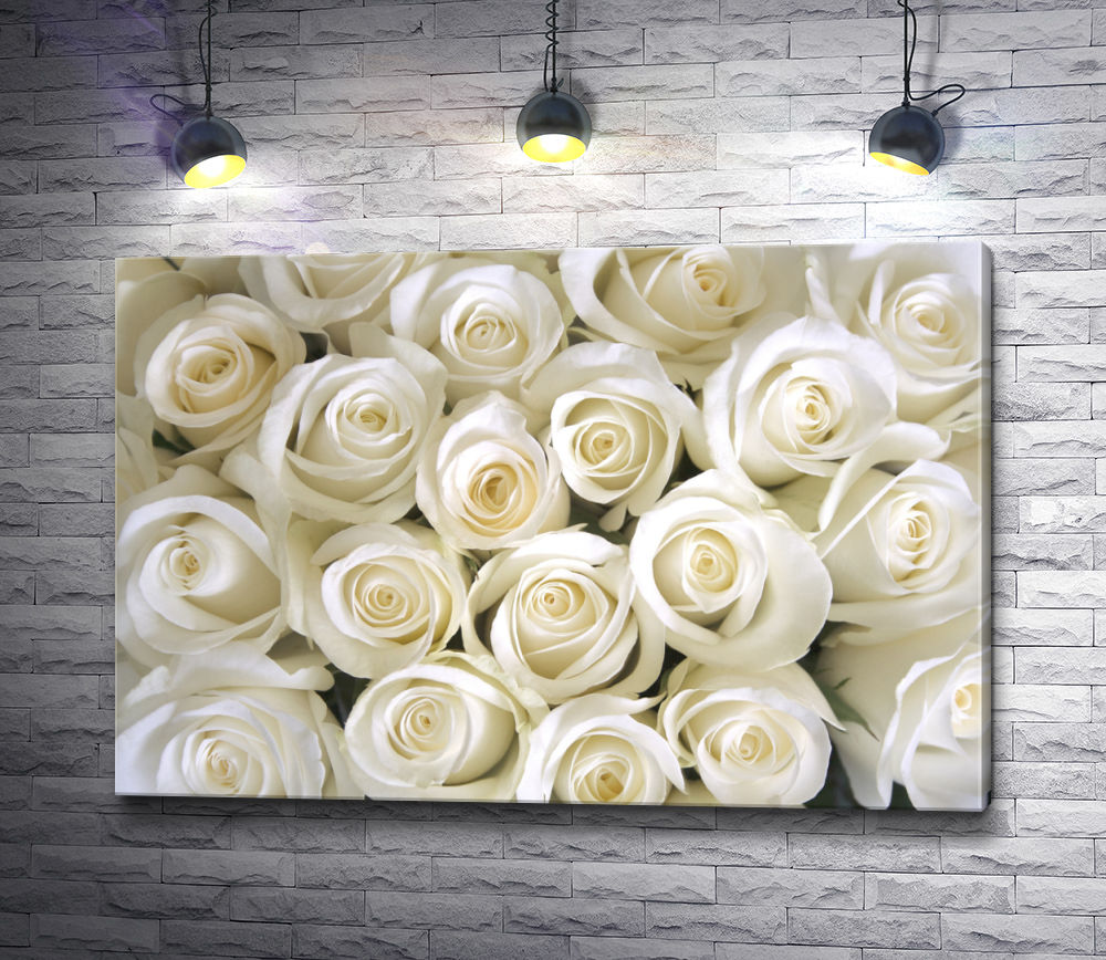 """Картина """"Свадебные бутоны белых роз"""""""