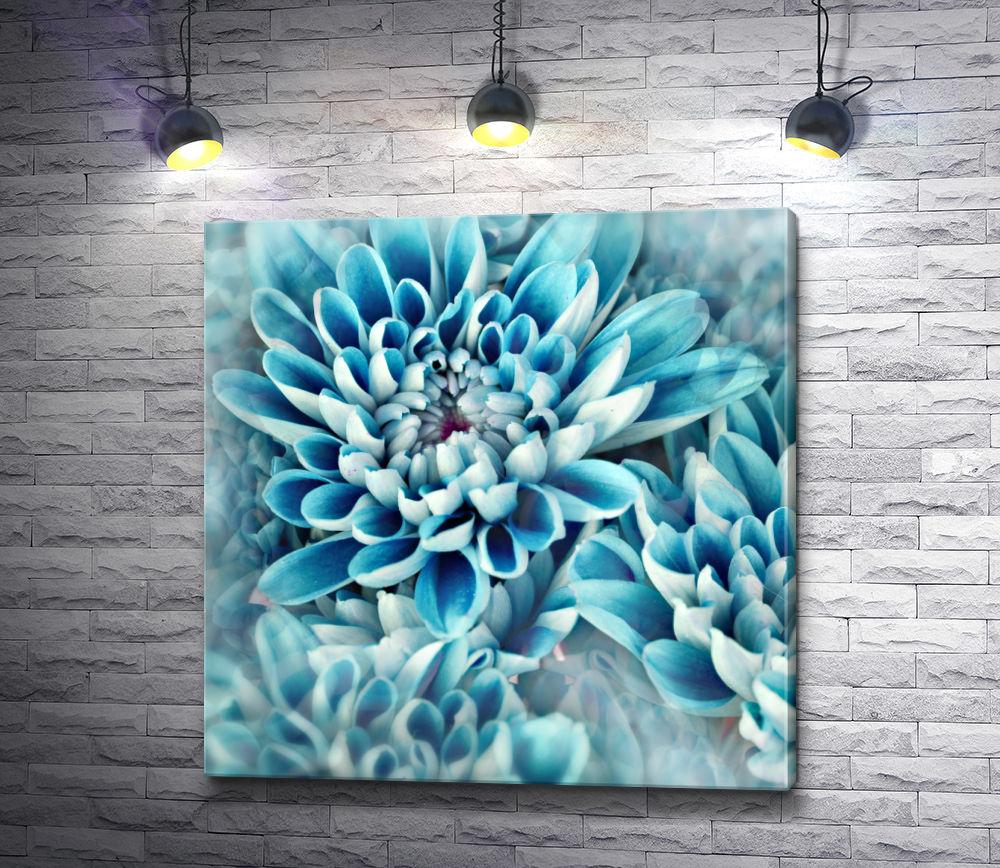 """Картина """"Изысканные голубые хризантемы"""""""