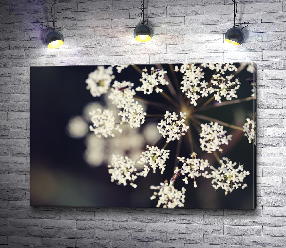 """Картина """"Веточка белых цветов"""""""