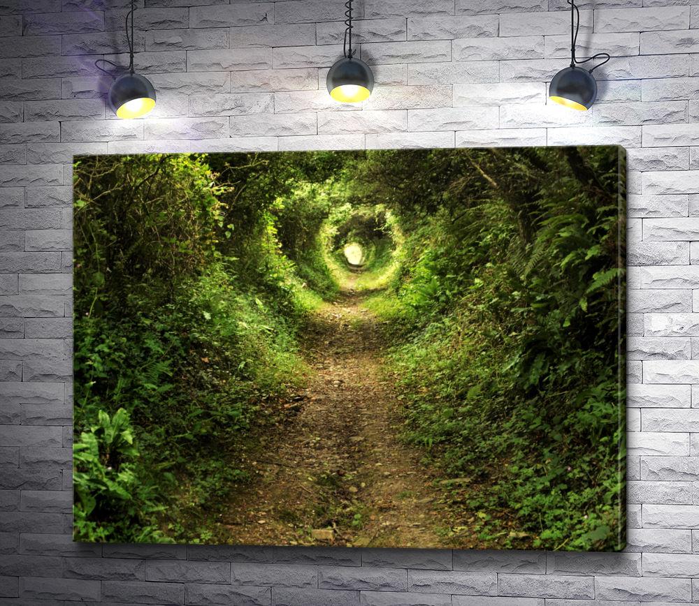 """Картина """"Зеленый тоннель в парке"""""""