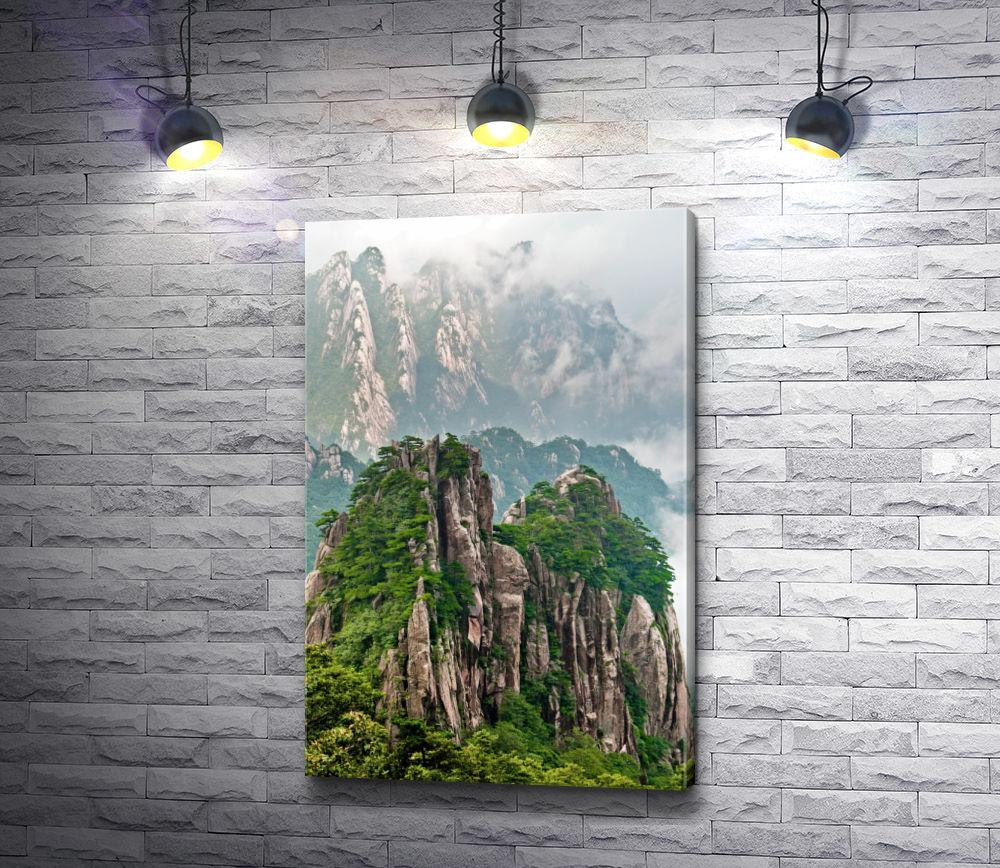 """Картина """"Горный хребет Циньлин. Китай"""""""