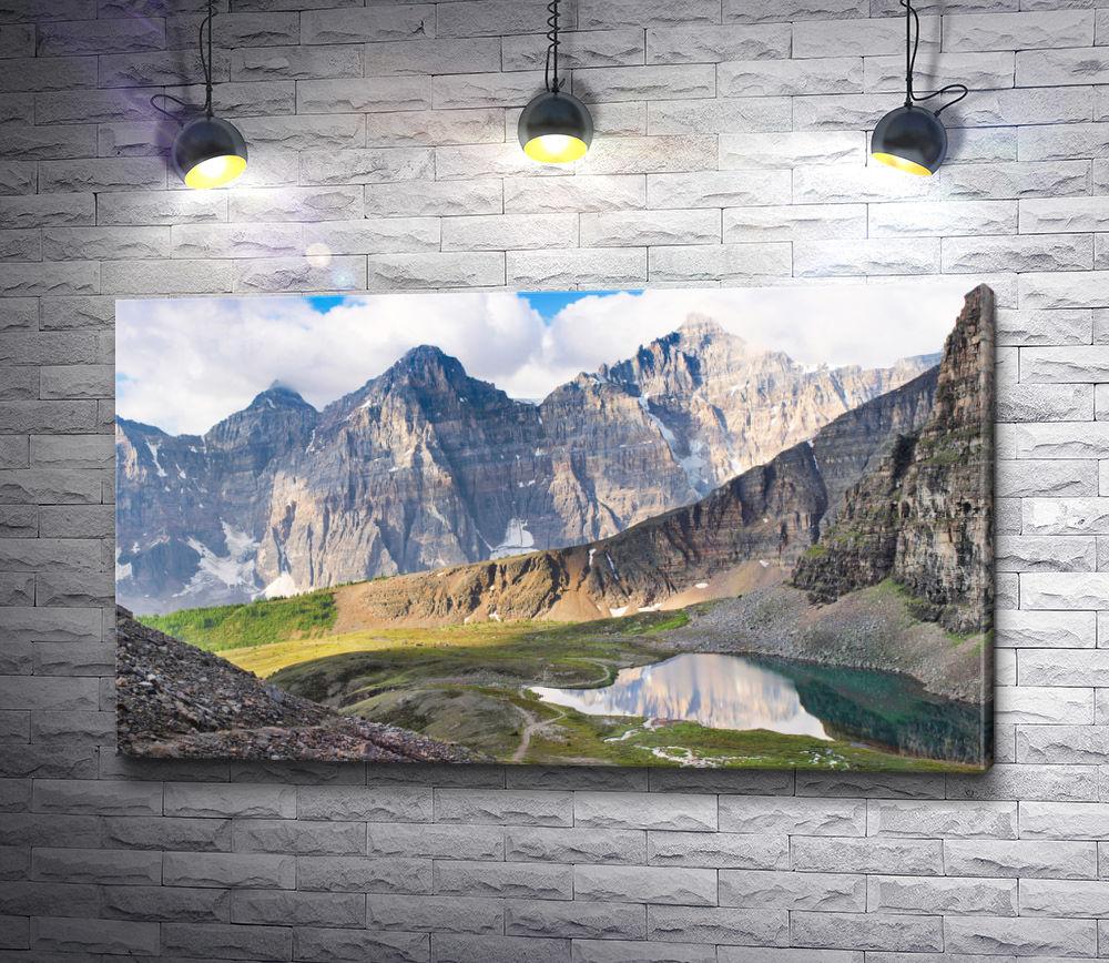 "Картина ""Панорама скалистых гор в национальном парке Банф, Альберта, Канада"""