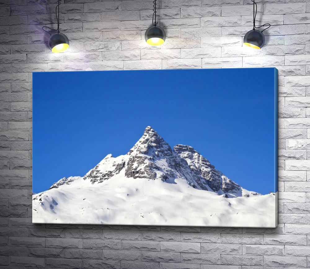 """Картина """"Горный пик в снегу"""""""