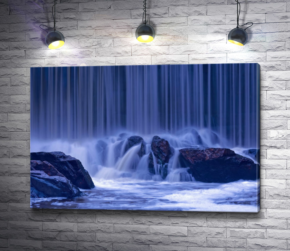 "Картина ""Голубой водопад"""