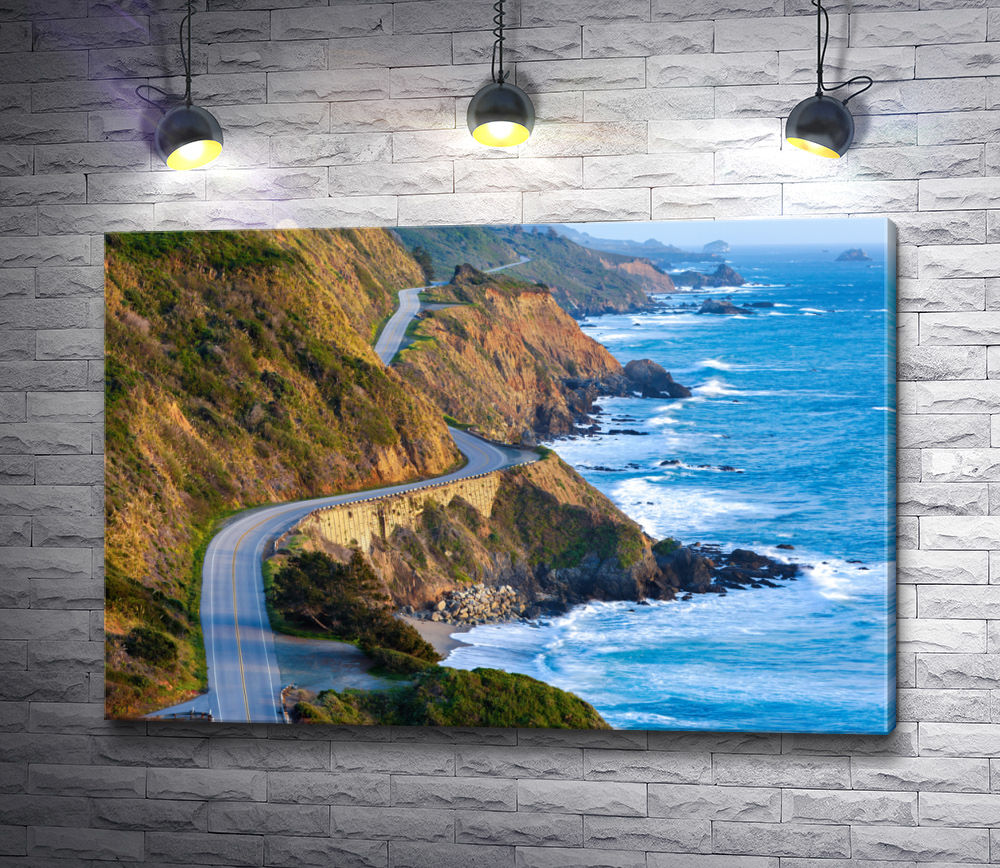 "Картина ""Горная дорога над океаном"""
