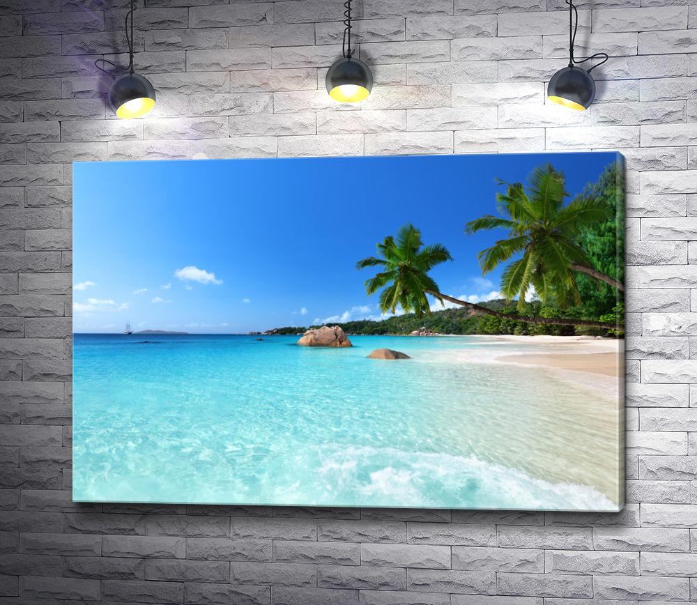 "Картина ""Пляж Ансе Лацио на острове Праслин, Сейшельские острова"""