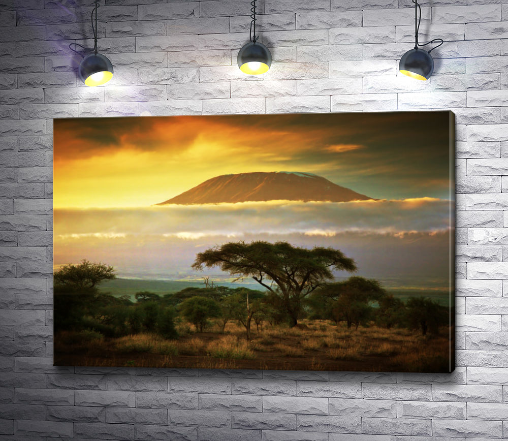 "Картина ""Вид на гору Килиманджаро. Саванна """