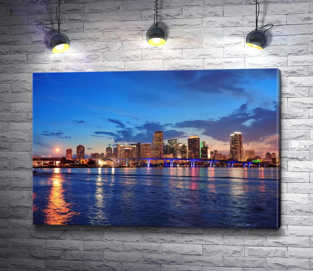"""Картина """"Южная Флорида. Вид на ночной город"""""""