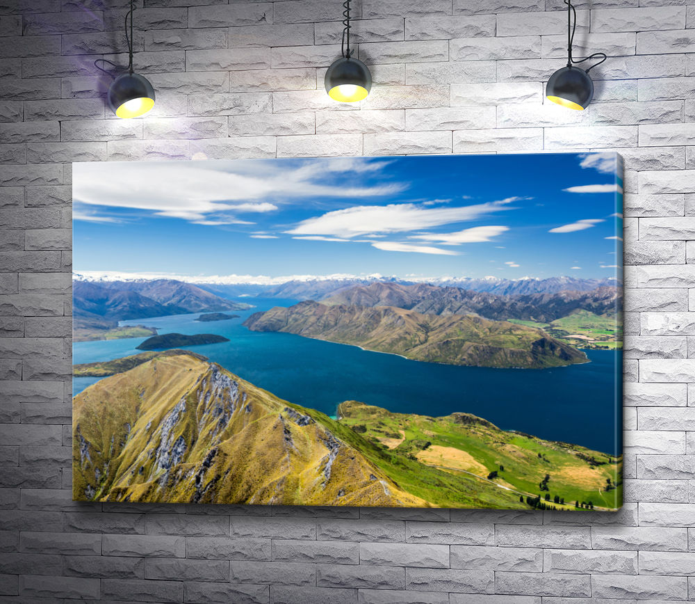 "Картина ""Озеро Уанака и Гора Аспайринг, Новая Зеландия"""