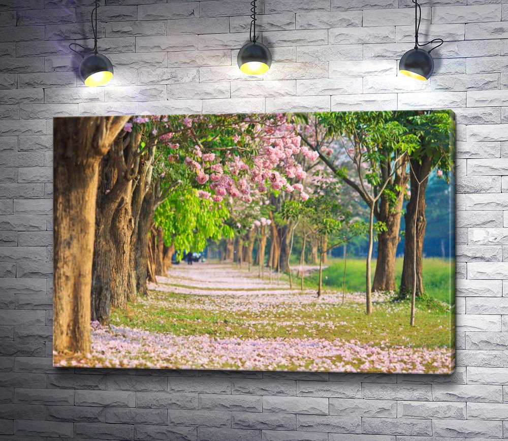 """Картина """"Аллея цветущих деревьев"""""""