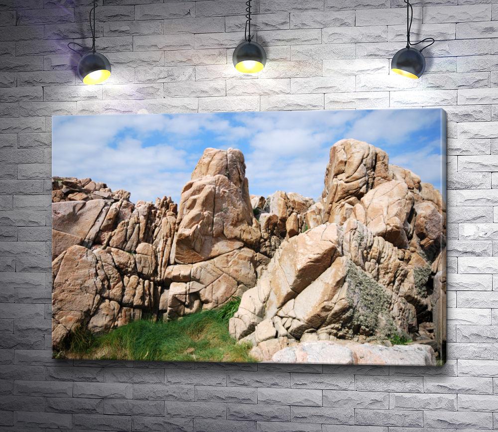 """Картина """"Прекрасная горная порода на полуострове Кулена в Швеции"""""""