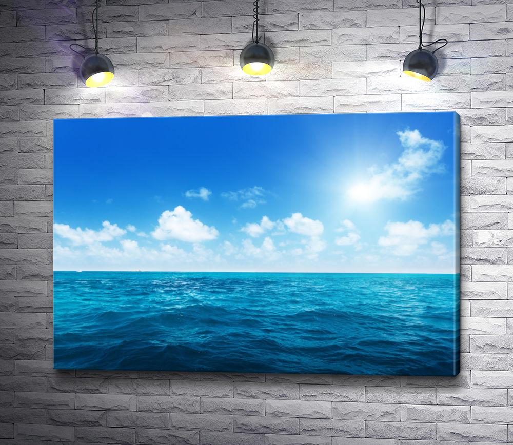 """Картина """"Облачное небо над морем"""""""