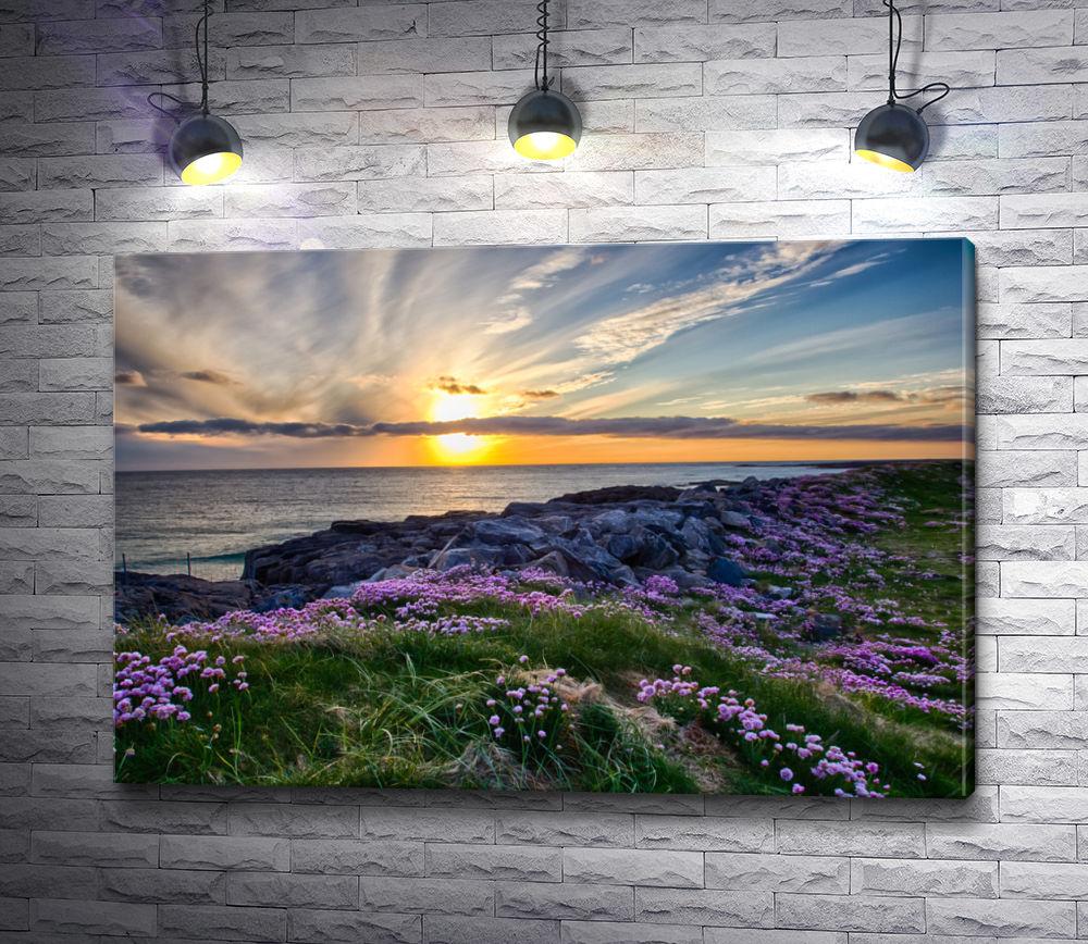 """Картина """"Замечательный закат на пляже Тангасдейл"""""""