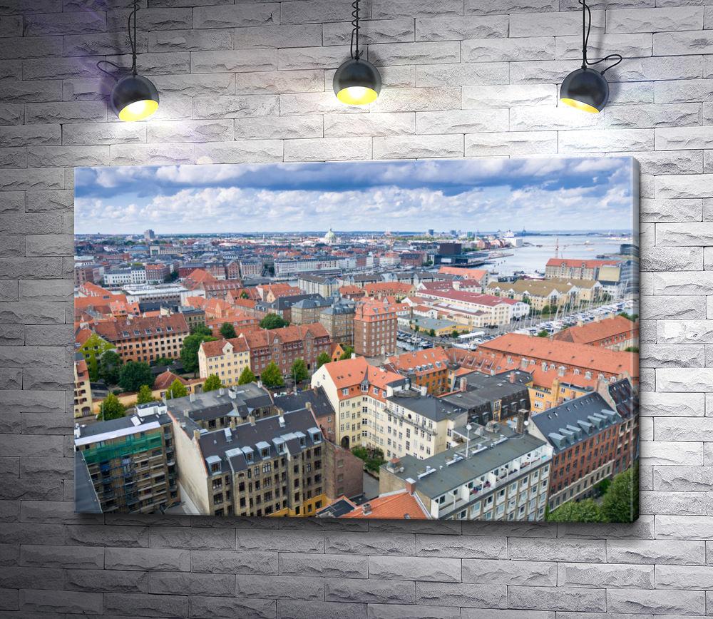 """Картина """"Вид на город Копенгаген, Дания"""""""