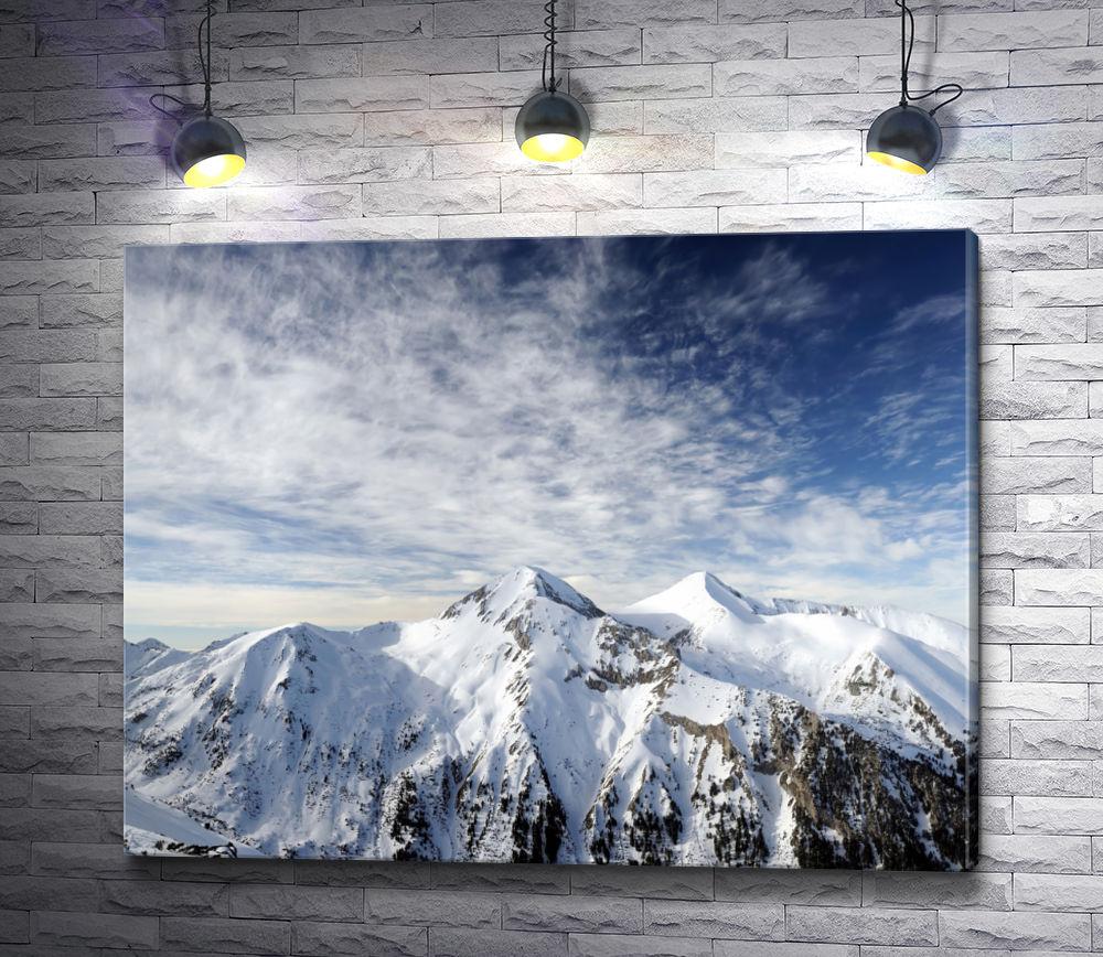 "Картина ""Панорама снежной горы на восходе солнца"""