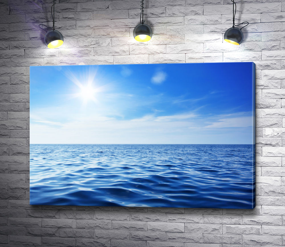 """Картина """"Морской пейзаж в солнечных лучах """""""