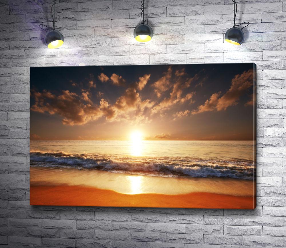 """Картина """"Восход солнца над океаном, Гавайи"""""""