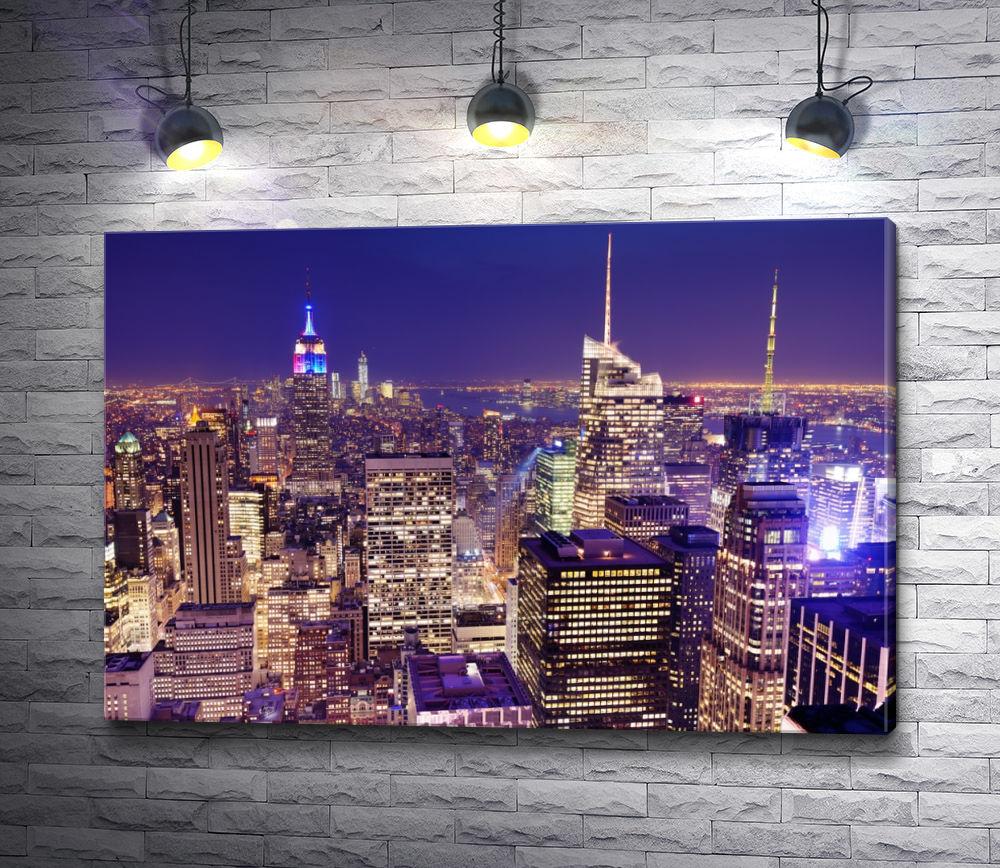"""Картина """"Ночной Нью Йорк """""""