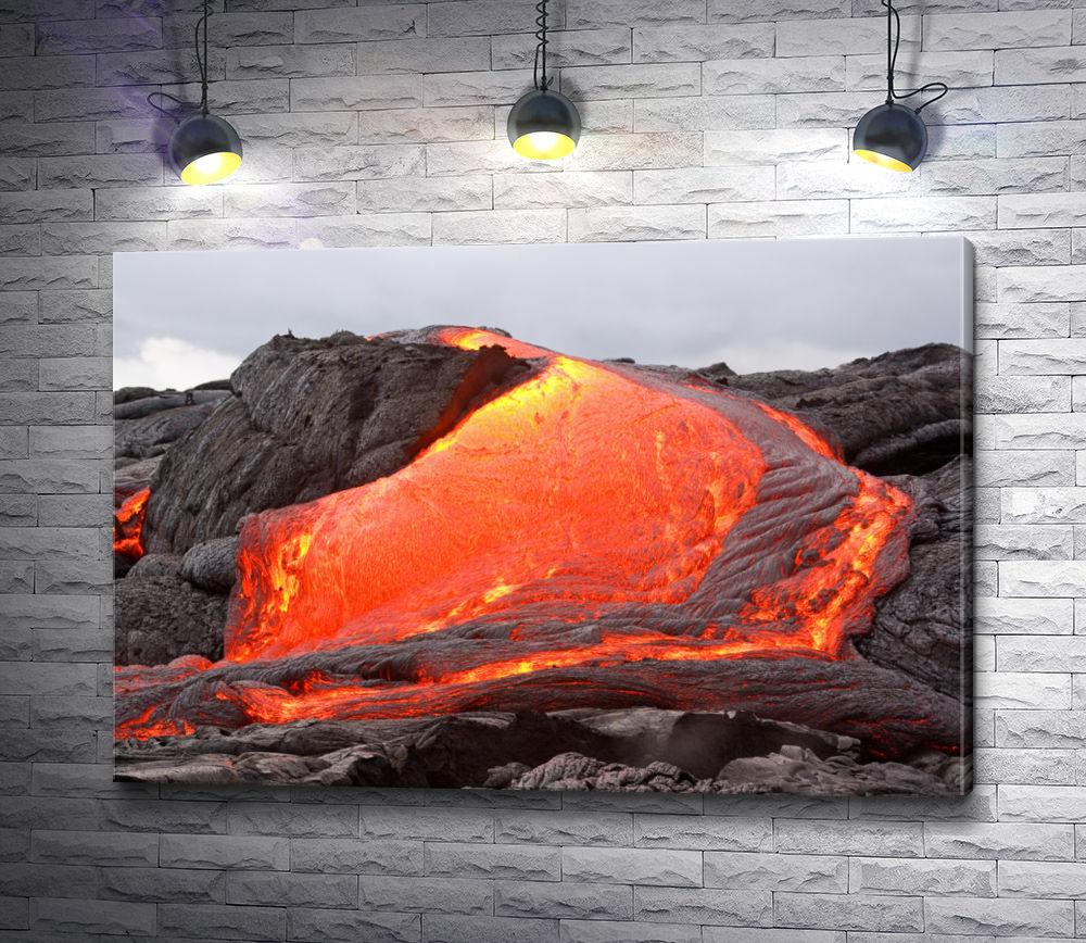 """Картина """"Поток вулканической лавы"""""""