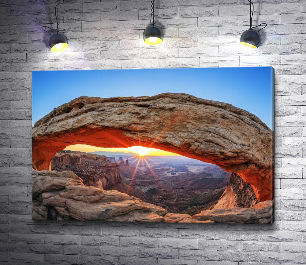"""Картина """"Меса Арка на рассвете, Национальный парк Каньонлендс """""""
