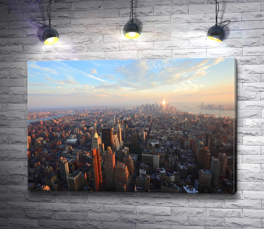 "Картина ""Нью Йорк во время заката"""