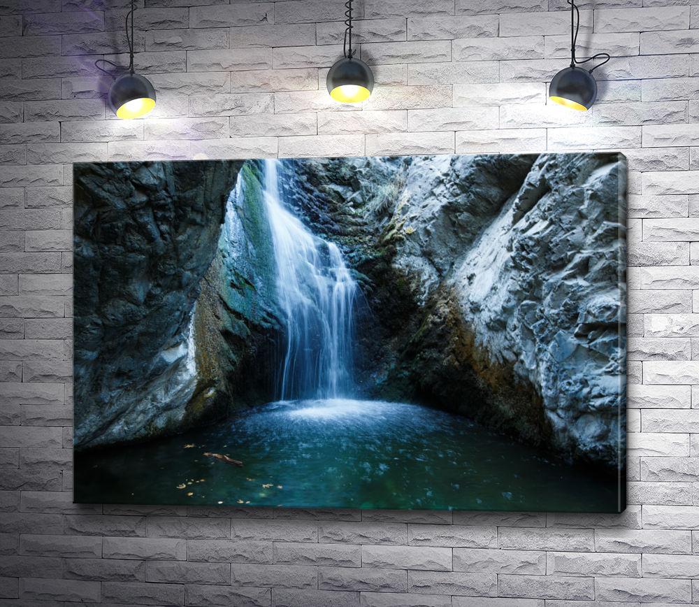 "Картина ""Водопад Милломерис в горах Троодос, Кипр"""