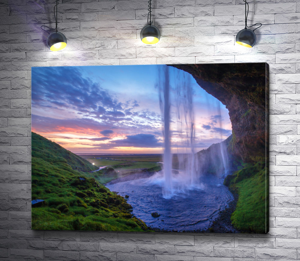 "Картина ""Водопад Сельяландсфосс, Исландия"""
