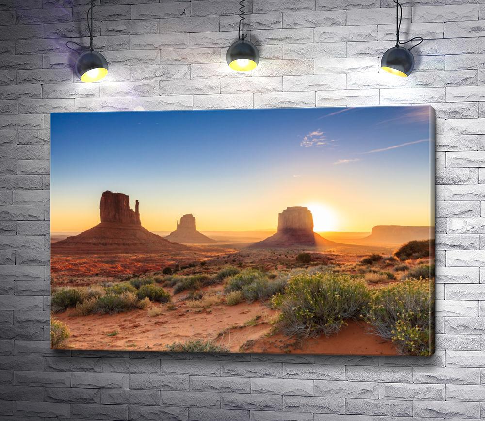 """Картина """"Сумерки в долине Монументов, Аризона, США"""""""