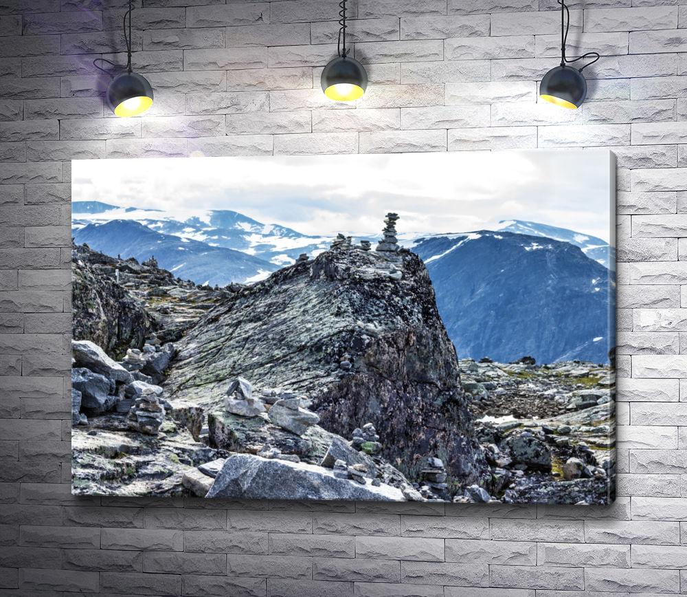 """Картина """"Гора Далснибба. Фьорд Гейрангер, Норвегия."""""""