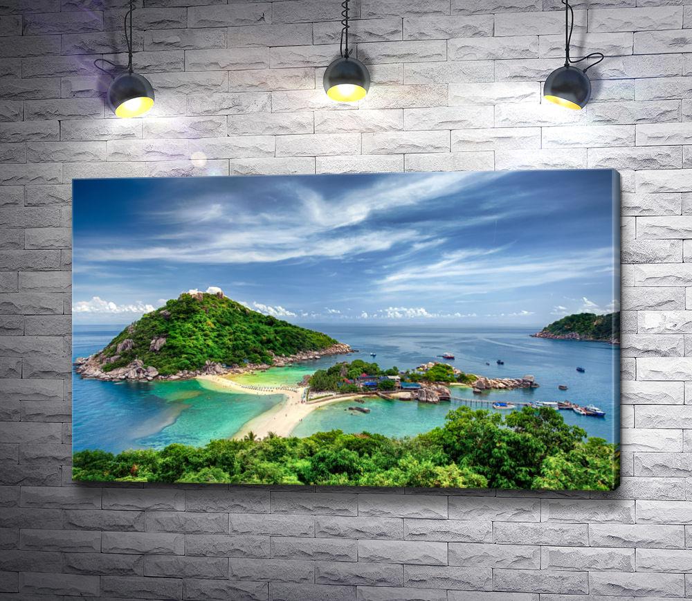 """Картина """"Обзорный вид на остров Самуи,  Таиланд"""""""