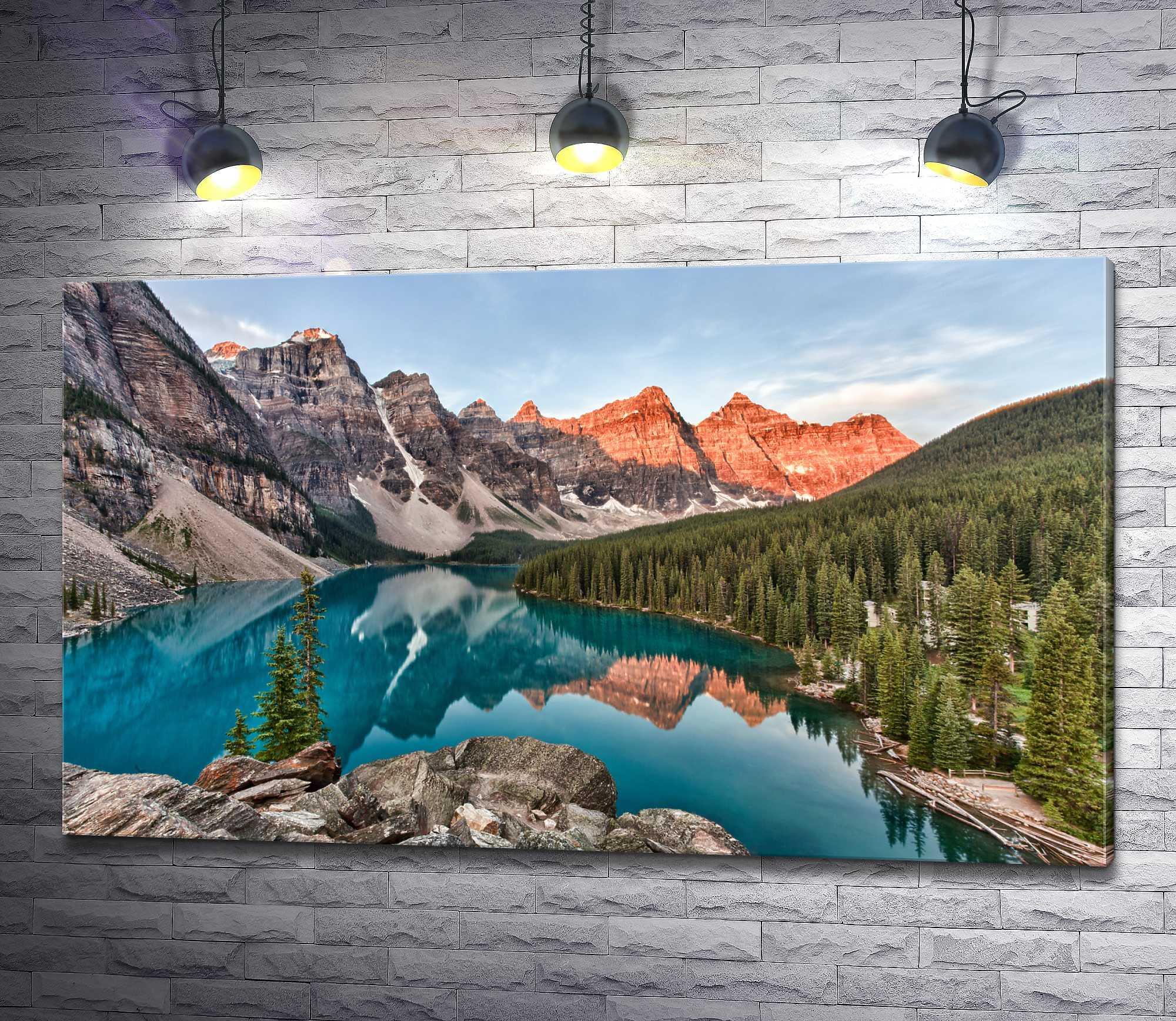 """Картина """"Невероятное озеро Морейн в канадской Долине десяти пиков"""""""