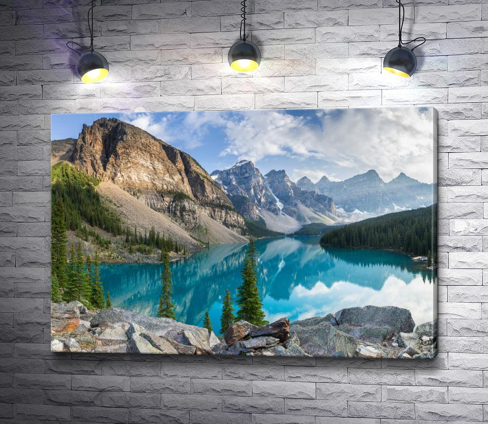"""Картина """"Горы на берегу озера """""""