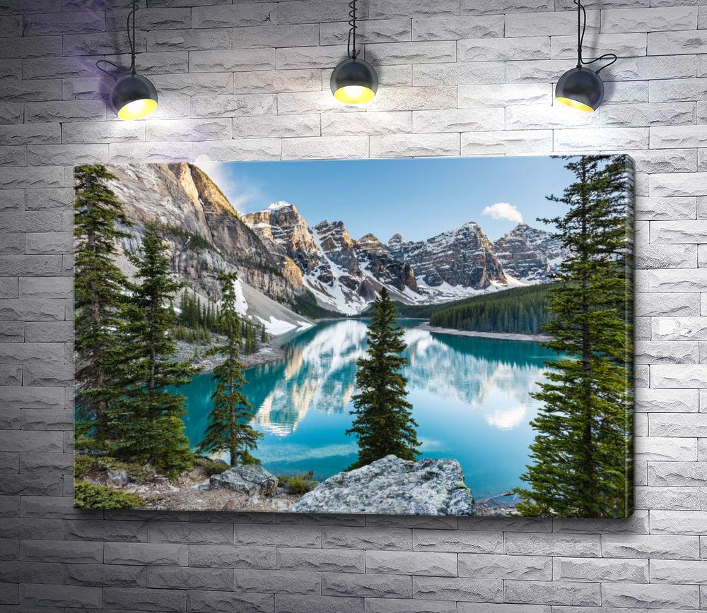 """Картина """"Вид на горную гряду с озером """""""