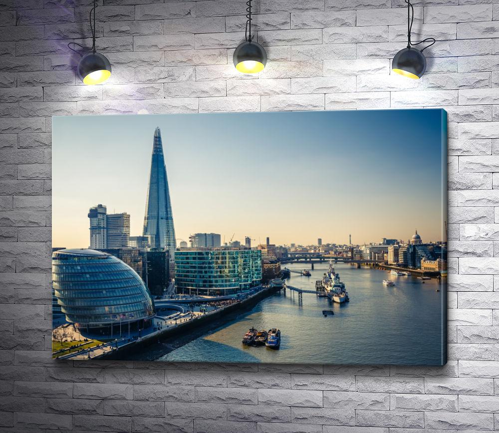 "Картина ""Вид на Темзу и Лондон-Сити. Лондон"""