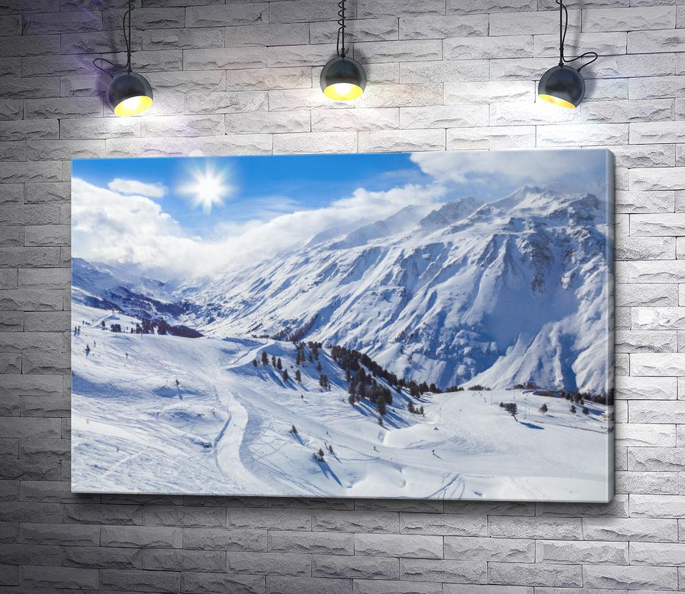 """Картина """"Горнолыжные склоны снежных Альп """""""