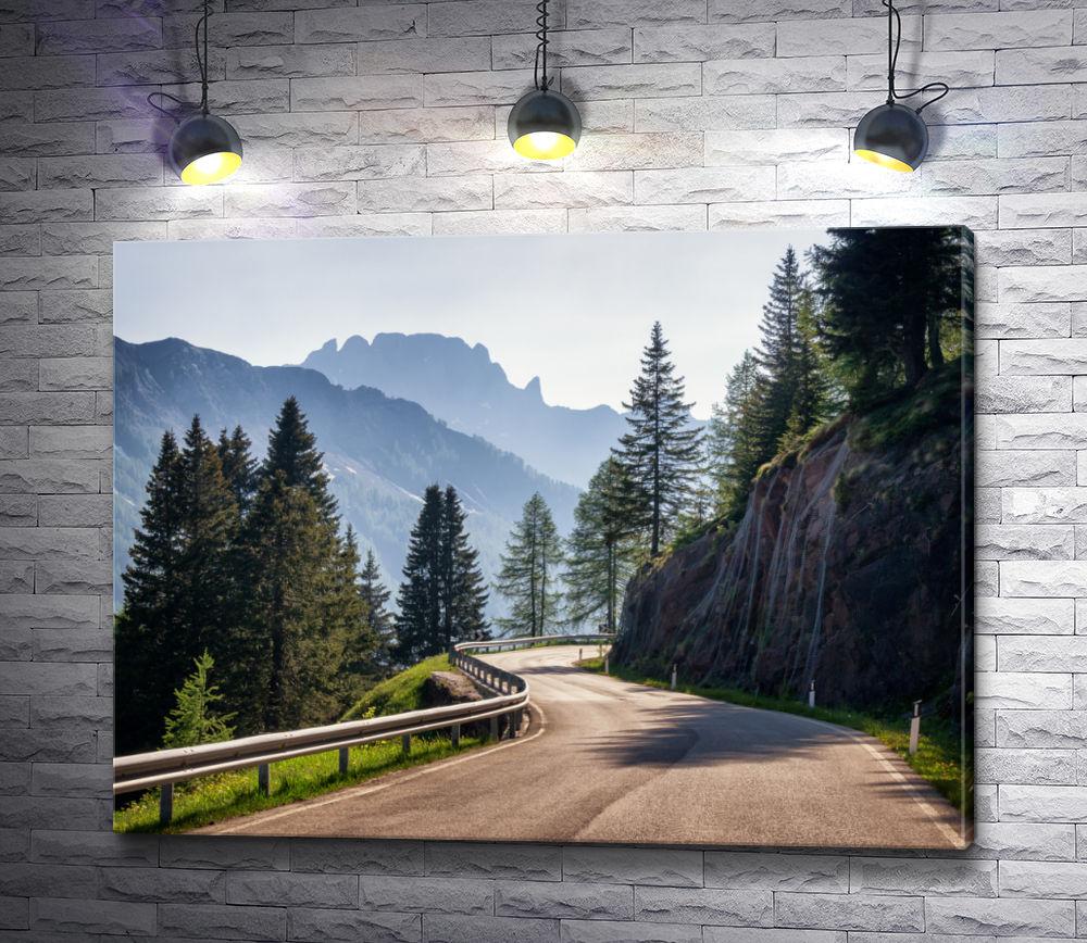 """Картина """"Проселочная дорога в горных Альпах"""""""