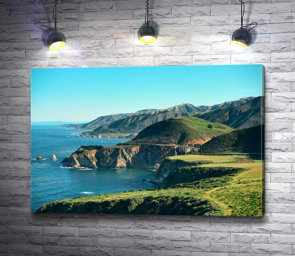 "Картина ""Фантастический вид на побережье Калифорнии - Биг Сур"""