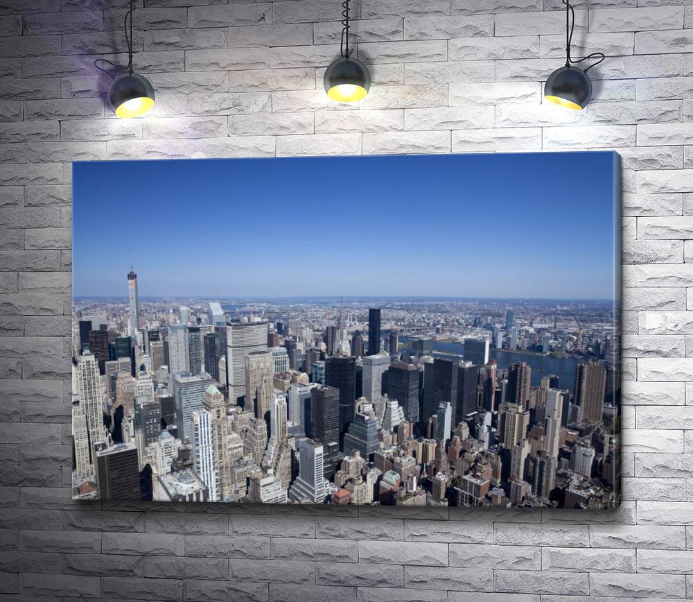 "Картина ""Вид на мегаполис, Нью Йорк"""