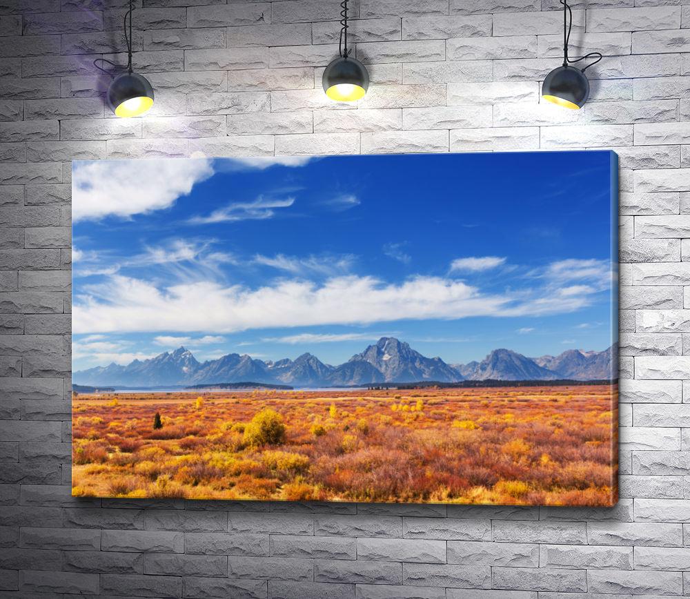 """Картина """"Красивый ландшафт с полем и небом"""""""
