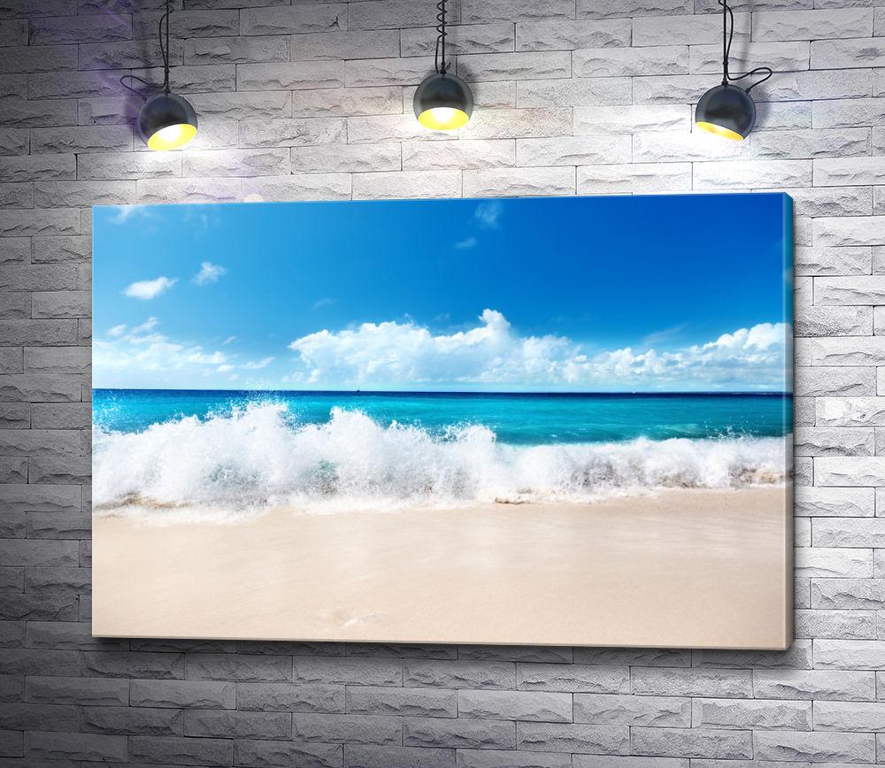 """Картина """"Волны омывают пляж Карибского моря"""""""