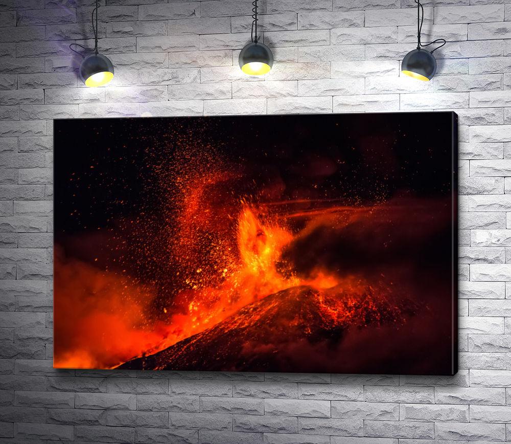 """Картина """"Мощное извержение магмы"""""""