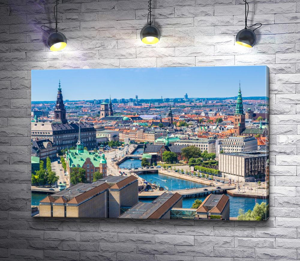 """Картина """"Вид на Копенгаген, Дания"""""""