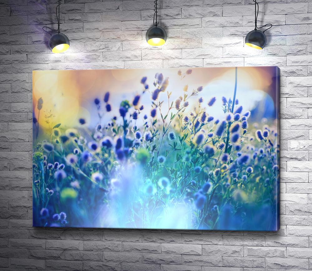 """Картина """"Летние луговые цветы в солнечных лучах"""""""