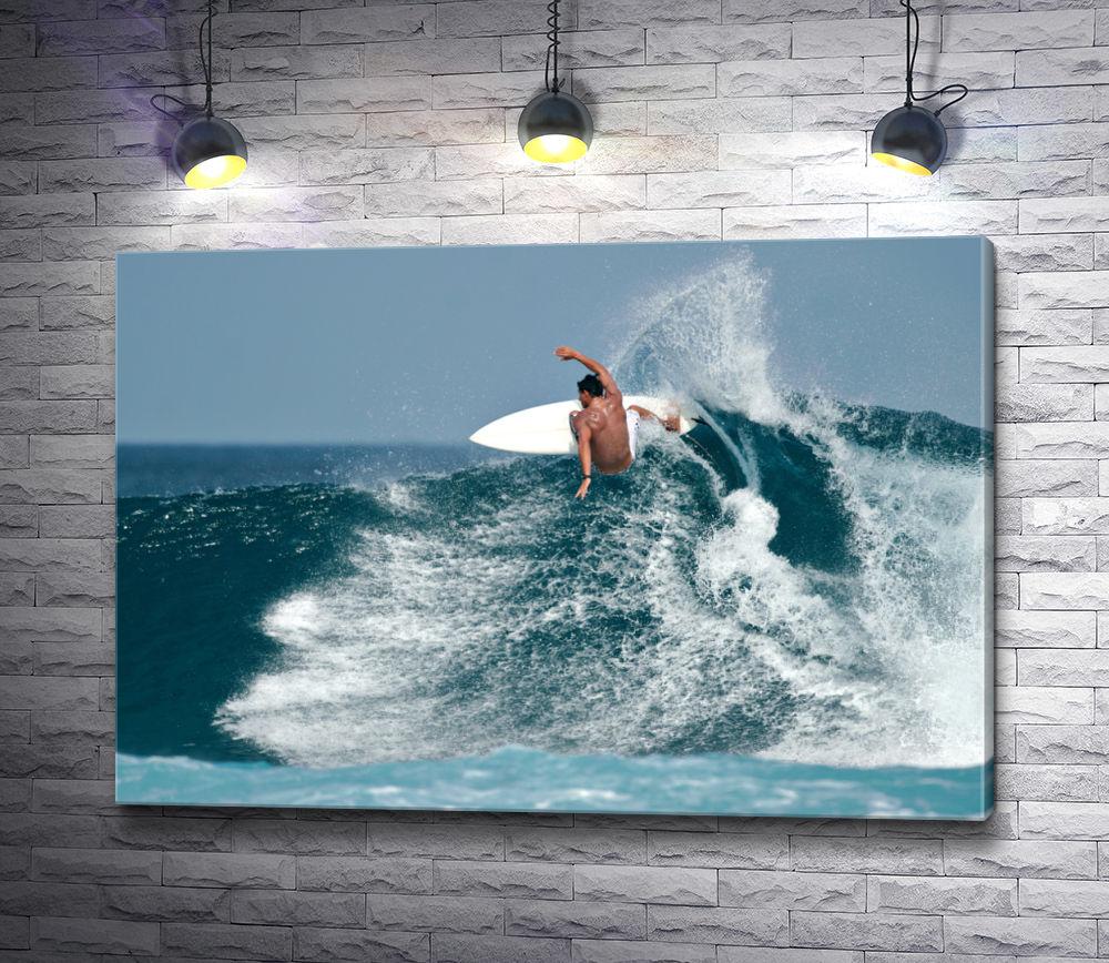 """Картина """"Серфингист на океанской волне"""""""